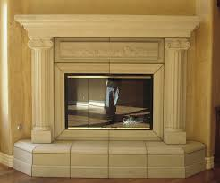 elegant neutral marble fireplace mantel by adorable roman theme