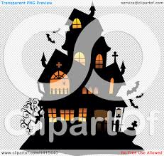 halloween bats transparent background clipart of a lit haunted halloween house with bats royalty free