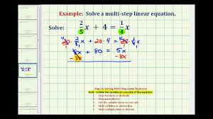 ex 1 solve an equation with fractions with variable terms on both sides