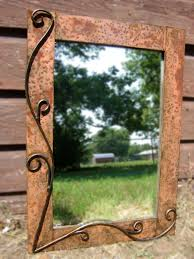 buy a hand crafted metal mirror rustic style 28 made to order