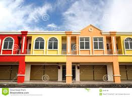 colorful row houses royalty free stock photos image 3946188