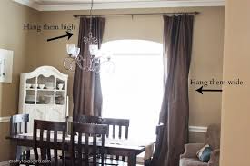 Hanging Curtains High And Wide Designs How High To Hang Curtain Rods Above Window Www Elderbranch