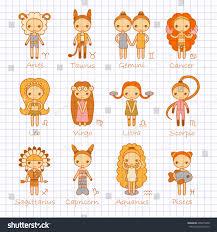 vector set twelve color hand drawing stock vector 405815848