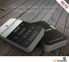 creative agency business card free psd template download