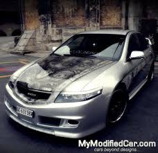 honda accord tuned honda accord tuning bonnet abstracted paint design