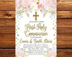holy communion invitations communion invites etsy