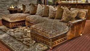 Leather And Tapestry Sofa Room Seating Or Just A Cozy Place To Relax The Light