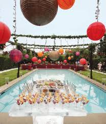 lovable pool wedding ideas pool wedding party decorating theme