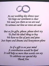 wedding gift not on registry 10 best no gifts images on wedding gift poem wedding