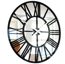Minimalist Clock by Large Mirrored Wall Clock Mirrored Wall Clocks Large Mirror Design