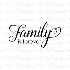 family is forever script word svg for by 985 graphic designs on zibbet
