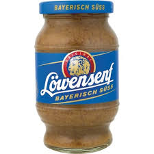 lowensenf mustard bavarian sweet mustard jar