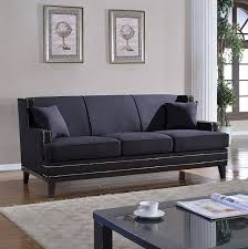 amazon com classic traditional soft linen sofa with nailhead trim