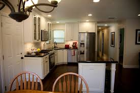 Dark Mahogany Kitchen Cabinets by Kitchen Excellent L Shape Kitchen Decoration With Square Brown