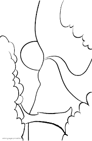 simple landscape coloring page for kindergarten