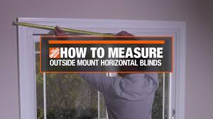 how to measure for outside mount horizontal window blinds decor