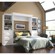 Queen Size Murphy Bed Kit Bestar Audrea Queen Wall Bed In White With Two 25