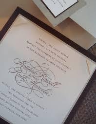 invitation design programs calligraphy wedding invitation deborah nadel design