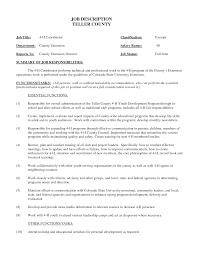 Supervisor Job Description For Resume by Job Teller Job Description For Resume