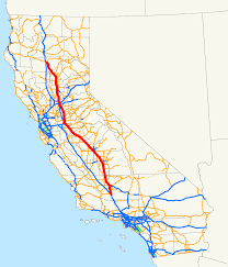 American Route Map by California State Route 99 Wikipedia