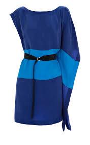 karen millen soft colour block dress blue multicolor kmm091