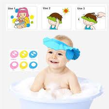 baby shower hat adjustable soft baby children shoo bath shower cap shooing