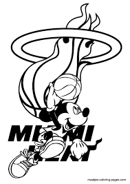 coloring page heat coloring pages miami logo 315248 page heat