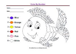color by number worksheets for kindergarten worksheets