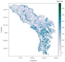 Oak Ridge Tennessee Map by Cms Lidar Derived Estimates Of Aboveground Biomass At Four