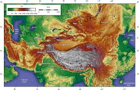 Africa Topographic Map by Map Of Central Asia Topographic Map Worldofmaps Net Online