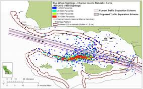 Traffic Map Los Angeles by Reducing Ship Strike Risk To Whales Policy And Management
