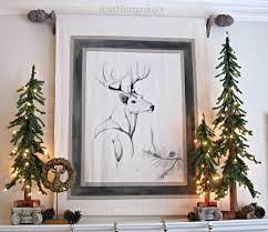 anythingology winter mantle deer decor