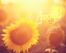 august 2016 sunflower desktop calendar free august wallpaper