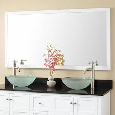 white framed mirrors for bathrooms everett vanity mirror white bathroom