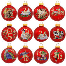 twelve days of 12 ornament set glass sets sets