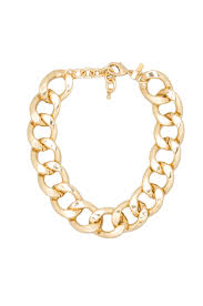 large gold link necklace images Lyst kenneth jay lane large flat link lobster claw clasp jpeg
