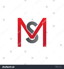 s m ms sm ms initial company square m stock vector 319524761