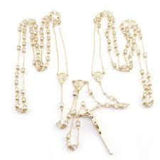wedding lasso rosary gold capped w gold chain