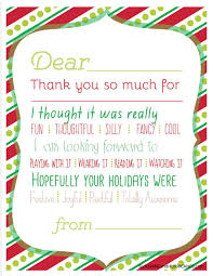 thank you card for christmas printable thank you cards for kids