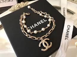 double pearl bracelet images 100 authentic chanel 2017 double strand pearl bracelet cc charm JPG