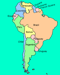 south america map with country names and capitals south america