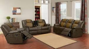 Two Tone Reclining Sofa Brantley Two Tone Leather Reclining 3 Pcs Living Room Set Sofa