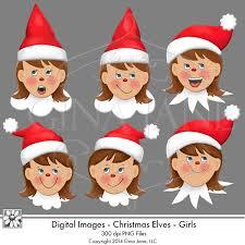 printable elf girl elf on the shelf theme christmas elf graphics elf girls faces by