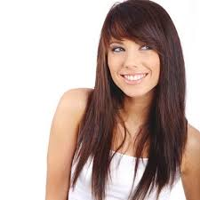 shorter hairstyles with side bangs and an angle long hair with short layers the shortest layers start just below