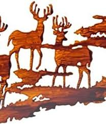 lake house decor wilderness cabin and deer metal wall