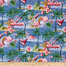 hoffman tropical collection flamingo blue from fabricdotcom from