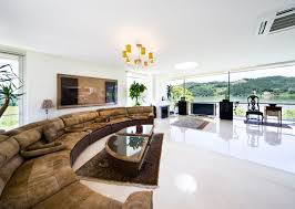 spacious living room with a view of the south han river gyeonggi