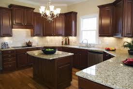 Kitchens With Dark Wood Cabinets by White Cabinets Dark Wood Luxury Home Design