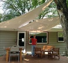 painting canvas awnings painting canvas awnings diy deck awning with painters drop cloth