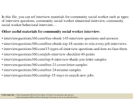 top 10 community social worker interview questions and answers